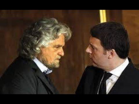 """Renzi: """"Con Beppe Grillo causa aperta da 1 milione, non ritiro querela come fanno nel PD"""""""