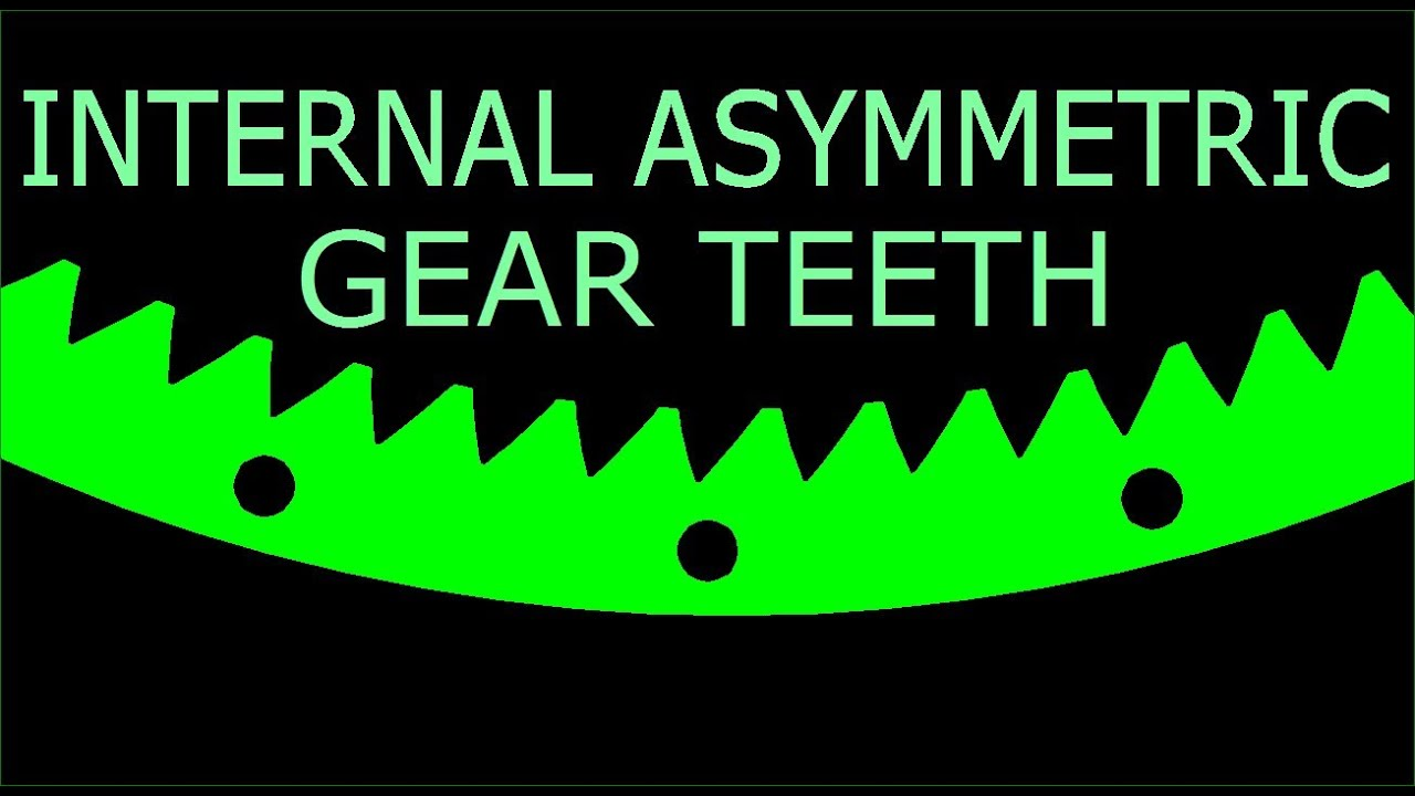 HOW TO: Asymmetric INTERNAL Tooth Design Procedure using Autocad