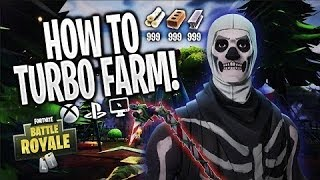 Fortnite: How to TURBO FARM in Season 5! *Get Materials 2x FAST!* (XBOX, PS4, PC) { Patched }