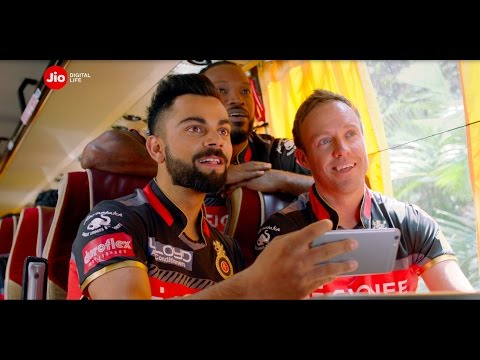 Sunrisers Hyderabad Vs. Royal Challengers Bangalore connected by #JioDigitalLife