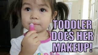 Toddler Does Her Own Makeup! - January 25, 2016 -  ItsJudysLife Vlogs