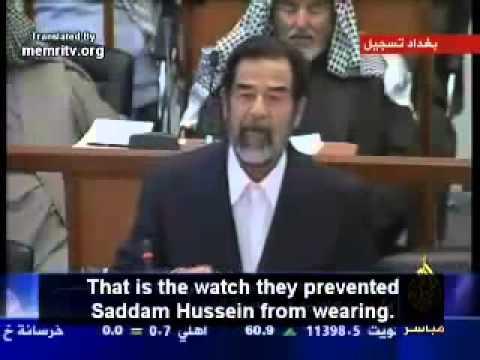 Saddam Husseins final speach