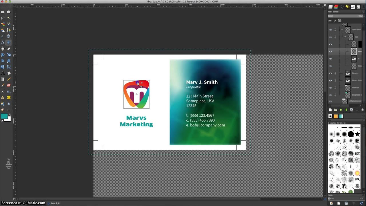 editing business card files with gimp youtube