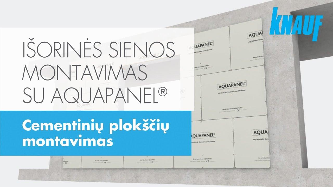 I orin s sienos montavimas su cementine plok te aquapanel youtube for Knauf aquapanel exterior cement board