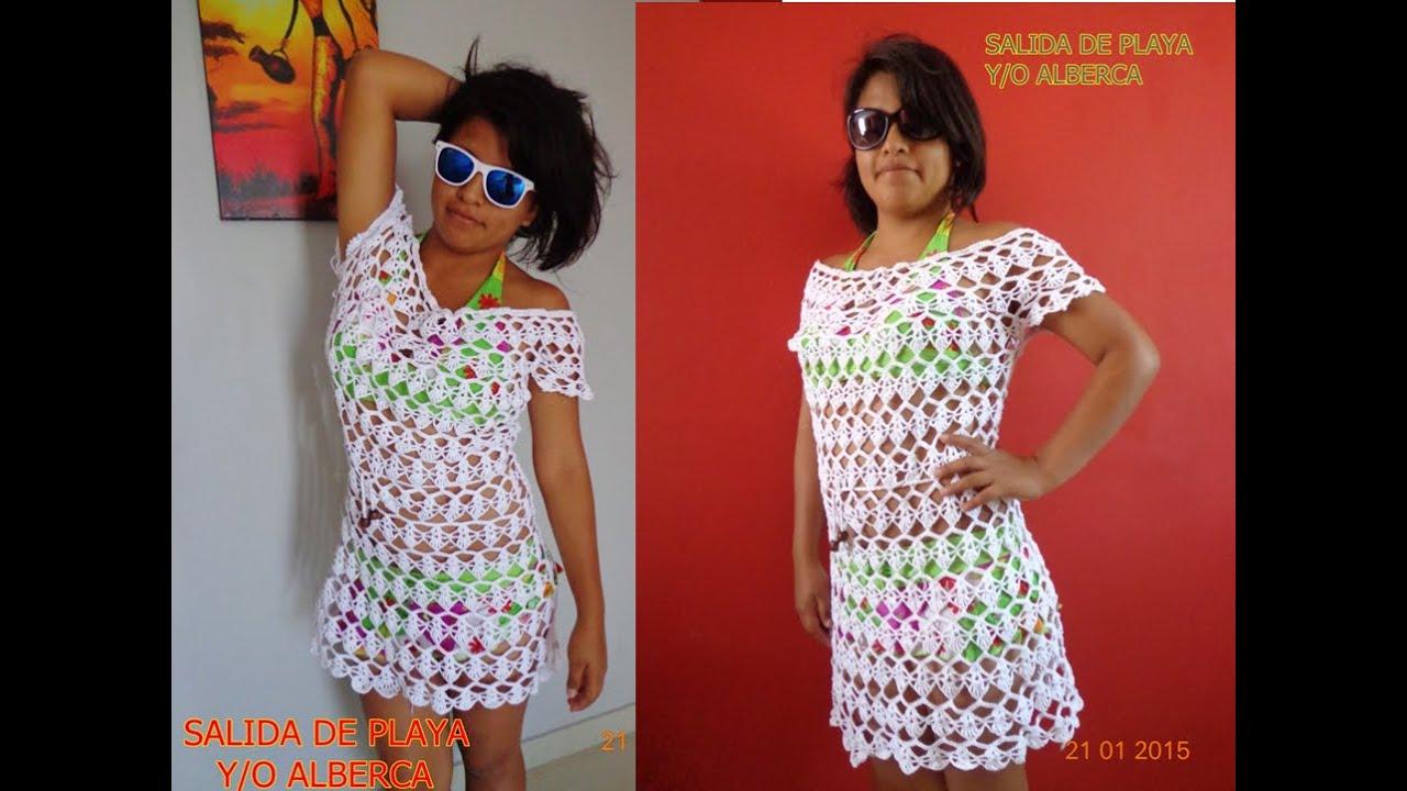 Set De Baño Tejido En Crochet Paso A Paso:Vestidos De Playa Tejidos Para Nina's