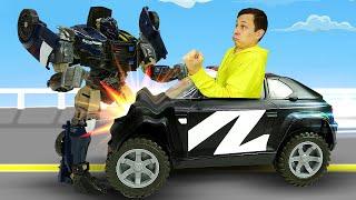 Игры Трансформеры онлайн - Десептикон Баррикейд устроил Аварию! - Видео машинки для мальчиков.