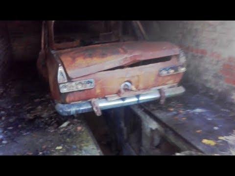 Забытые гаражи (часть 2) сгоревший 412, дорожный компрессор.