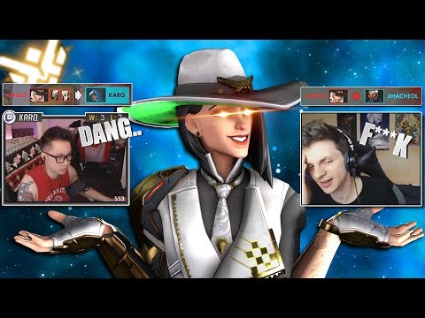 Famous Twitch streamers reaction to me killing them with Ashe/Hanzo - Overwatch thumbnail