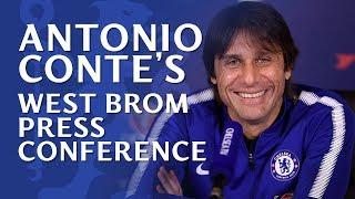 Antonio Conte's Press Conference | Chelsea v West Bromwich …
