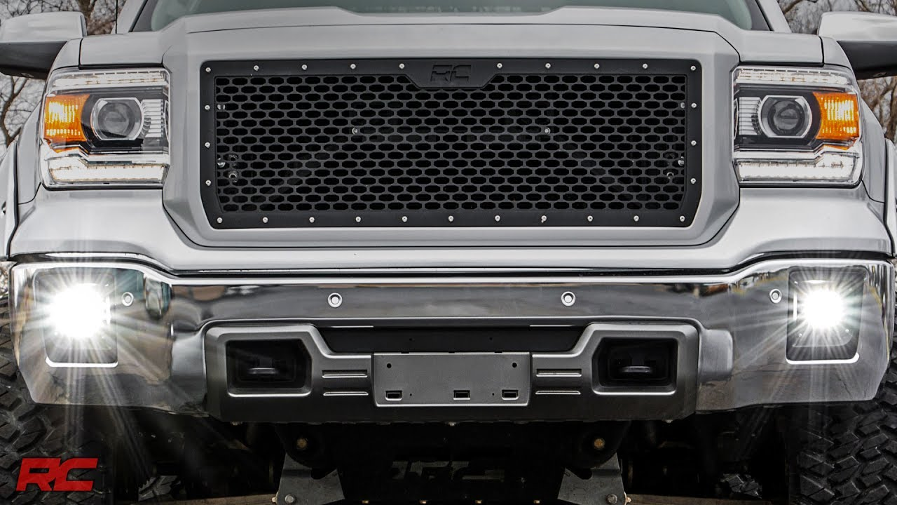 small resolution of 2014 2015 gmc sierra 1500 led fog light kit by rough country