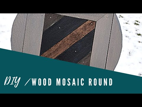 DIY Wood Mosaic Round