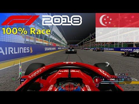 F1 2018 - 100% Race @ Marina Bay Street Circuit, Singapore in Räikkönen's Ferrari