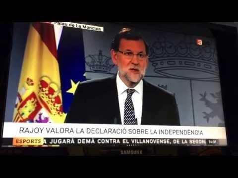 Rajoy reacciona a la declaració de Junts pel Sí i CUP del procés d'independència 27 octubre 2015