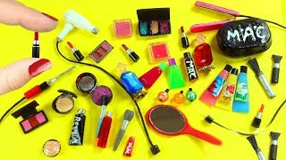 30 DIY Real  / Realistic Miniature  Doll Makeup, Cosmetics  & Beauty Supplies