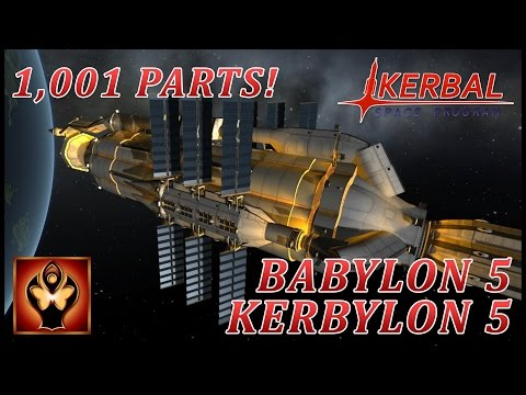 KSP : Babylon 5 (Kerbylon 5) construction process