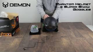 Demon Phantom Helmet w/ Supra Snow Goggles | Unboxing