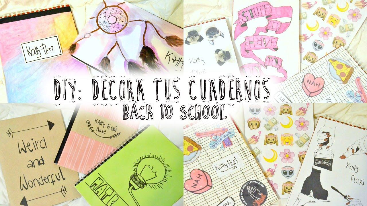 10 ideas para decorar tus cuadernos decorate your for Cosas para decorar tu pieza