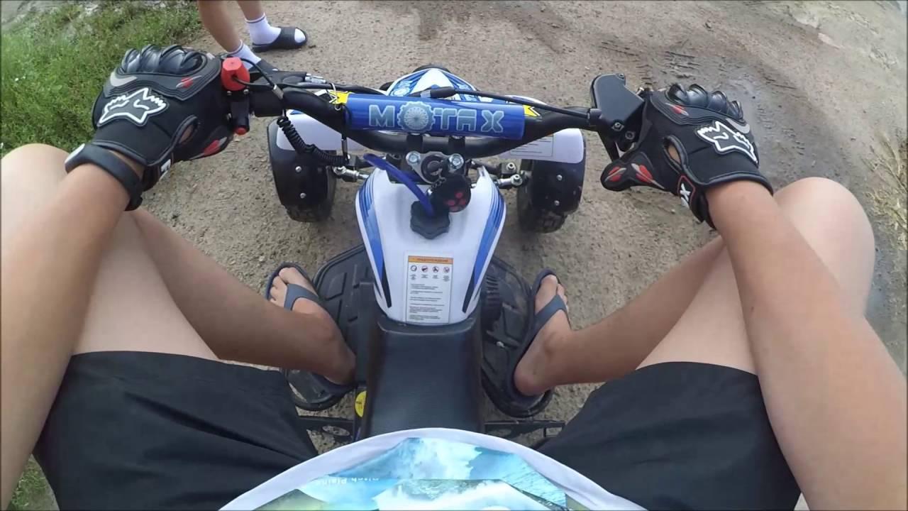 Обзор и тест драйв посылки/Квадроцикл MOTAX H4 mini