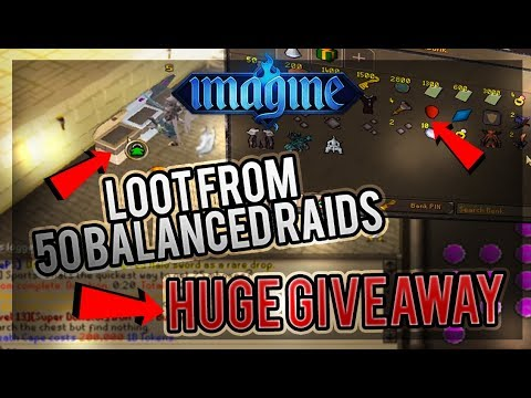 ImaginePS | Loot from 50 Balanced RAIDS | WE GOT SO LUCKY XD?! + HUGE GIVEAWAY | RSPS