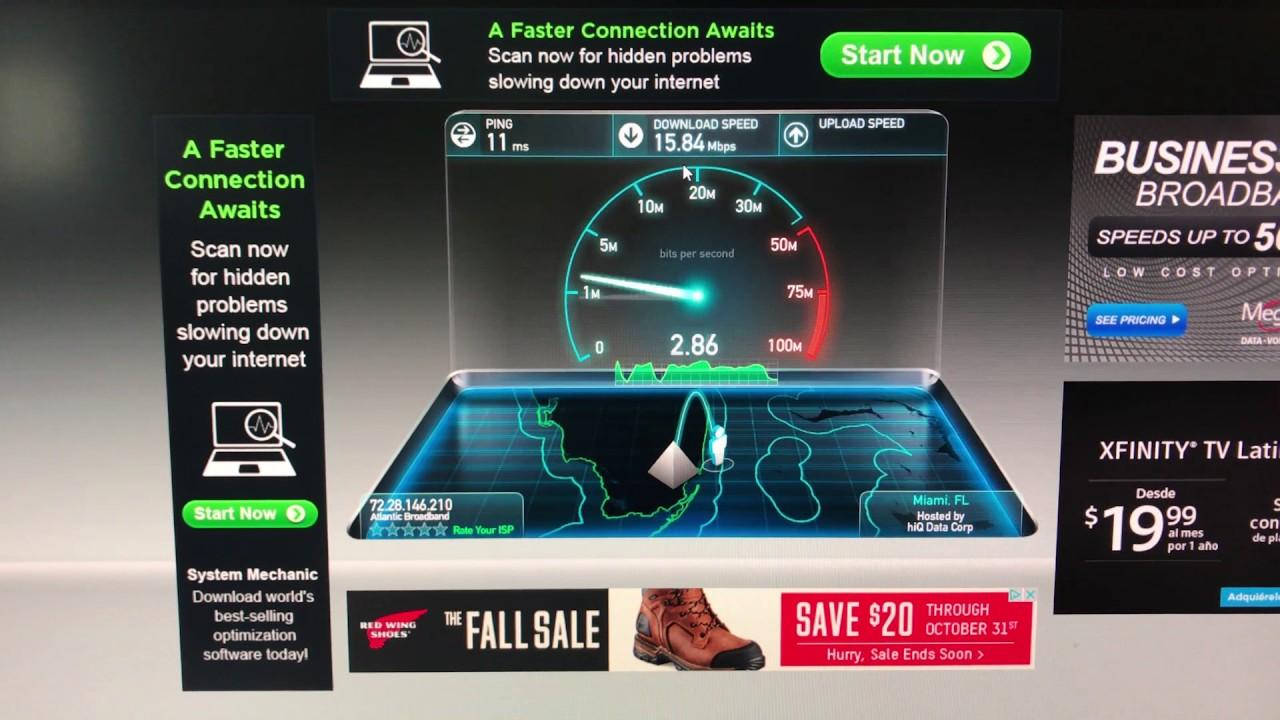 Speedtest Att Uverse Internet Vs Atlantic Broadband Internet In
