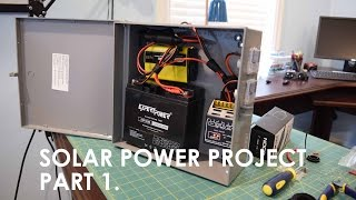 Solar Powered Server Project: Trial System Part 1