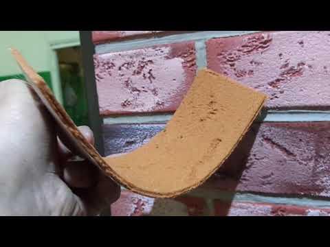 Гибкий Клинкер-Кирпич-Плитка-Облицовка для фасада и интерьера на сетке
