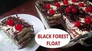 No bake Black Forest Cake | Black Forest Float | How to make Black Forest cake