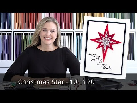 Christmas Star - 10 cards in 20 minutes Video Tutorial