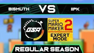 Bismuth vs iiPK   Regular Season   GSA SMM2 Expert Mode Speedrun League DA Season 3