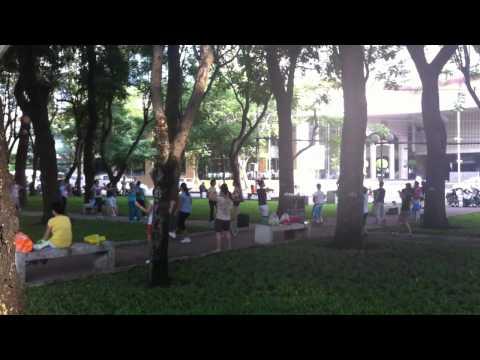 aerobics in the park ho chi minh city