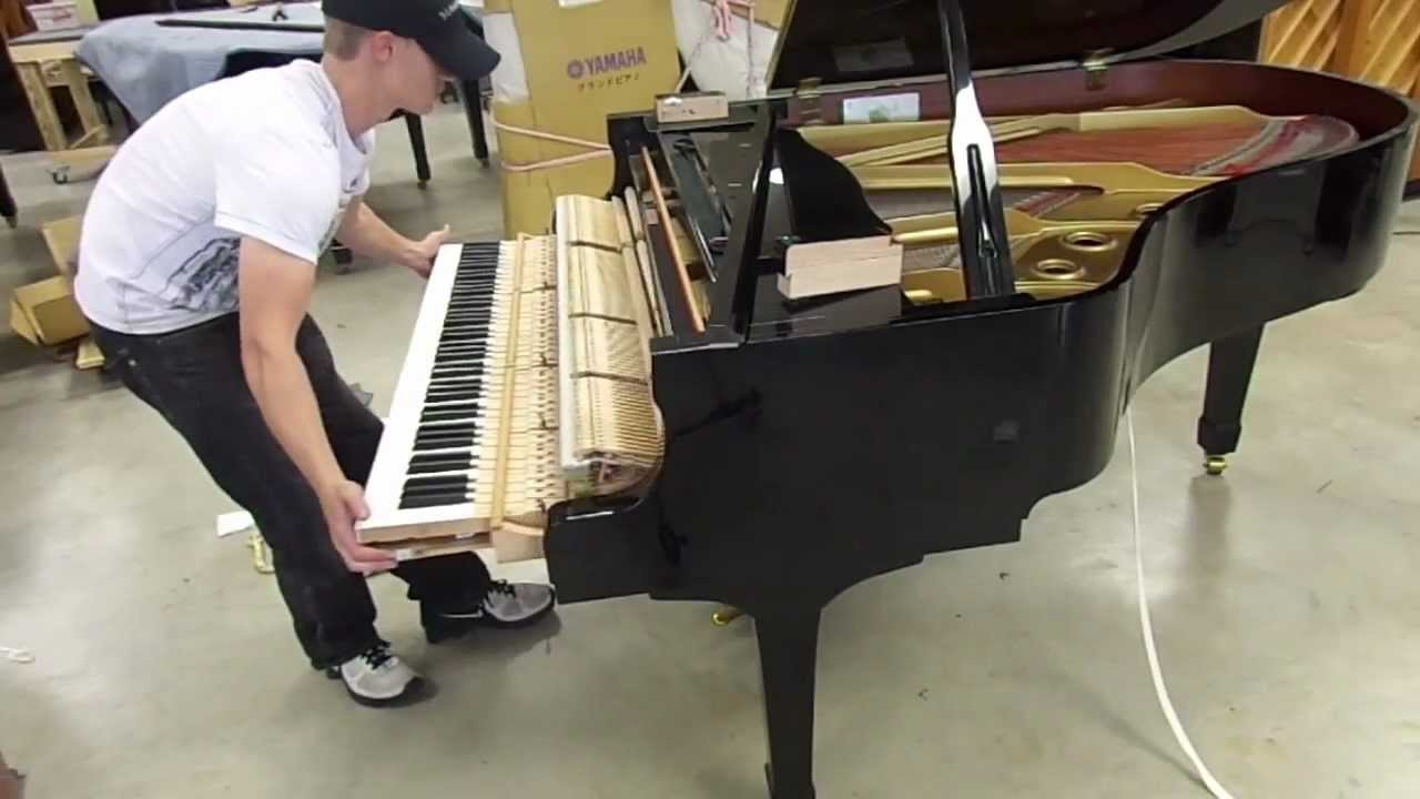 How To Setup a Grand Piano Outlet - YouTube