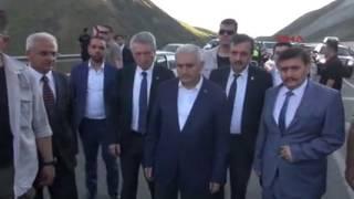 Başbakan Yıldırım ın güzergahında katliam gibi kaza