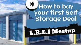 How to buy your first self-storage deal