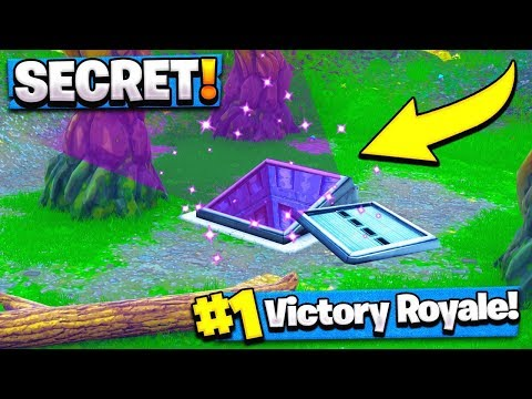 HOW TO GET INSIDE THE SECRET BUNKER! (Fortnite Battle Royale)