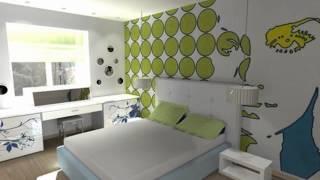 Белая спальня с яркими акцентами(, 2015-07-21T12:54:14.000Z)