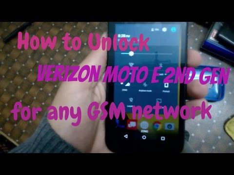 How to Unlock Verizon Moto E 2nd Gen (2015) for any GSM network