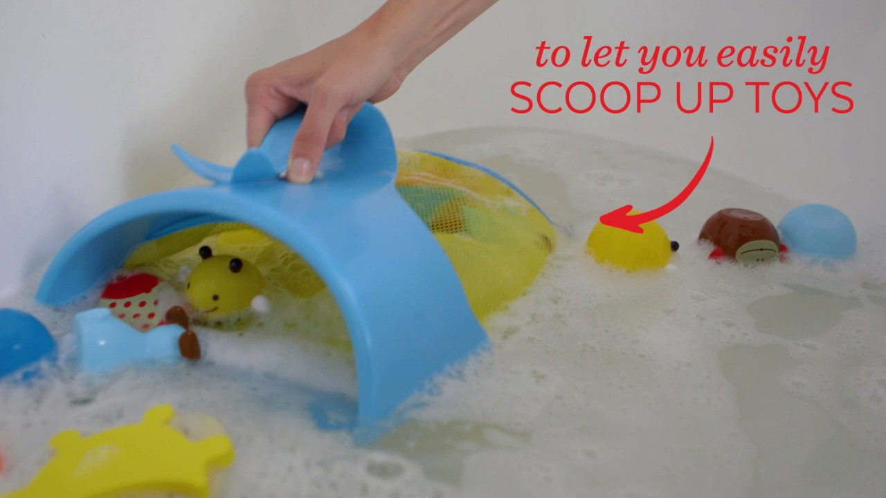 Bath Toy Storage - Moby bath Scoop - Skip Hop - YouTube