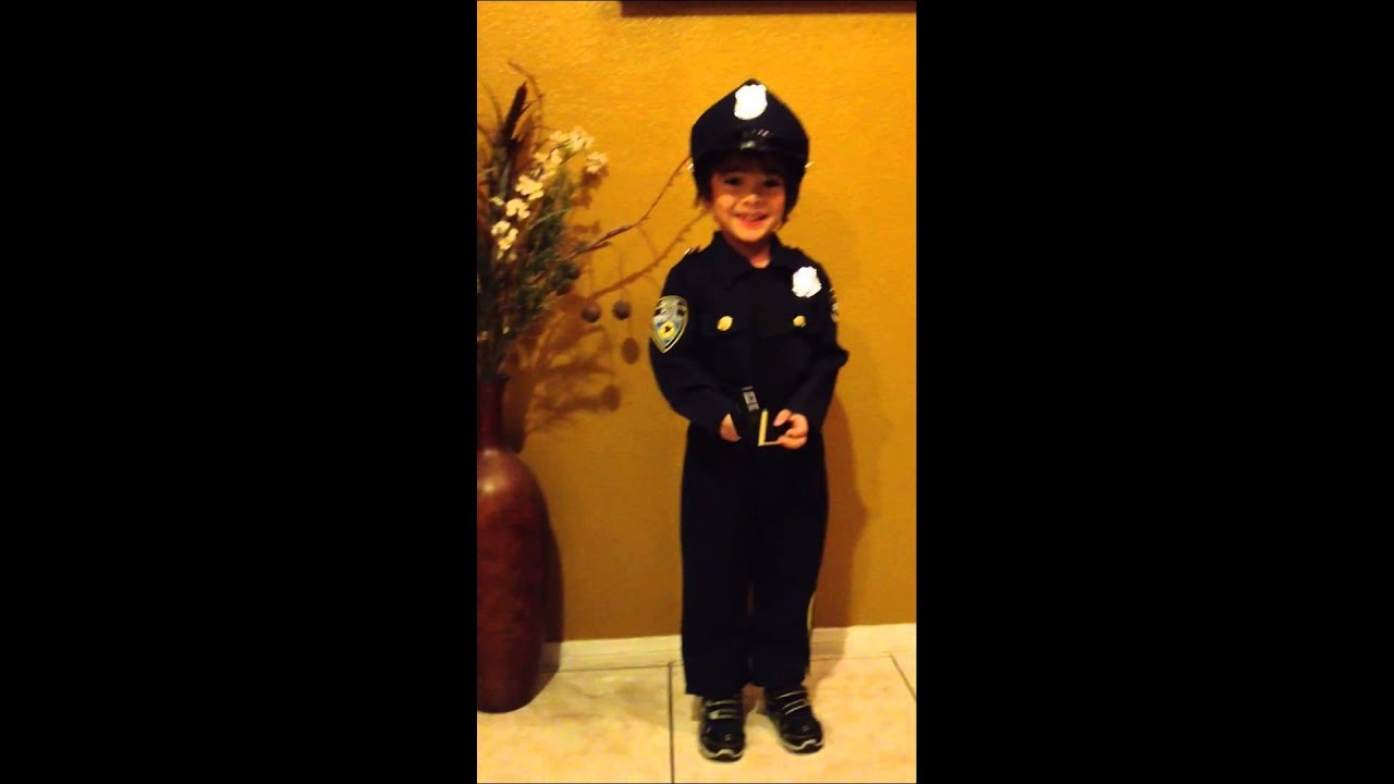 Police Officer Costume - Halloween 2014  sc 1 st  YouTube & Police Officer Costume - Halloween 2014 - YouTube