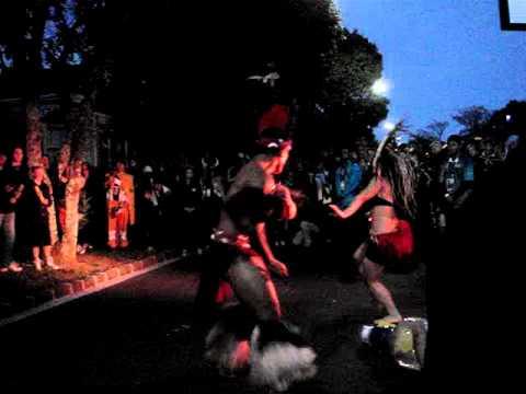 Street Entertainment outside Eden Park October 2011 - Te Ariki Vaine Dance Group