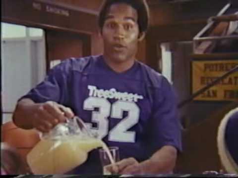 simpson orange juice commercial