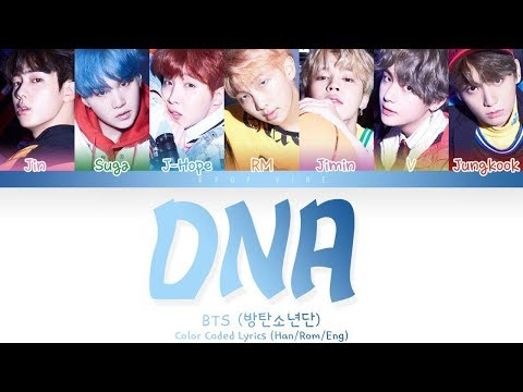 BTS (방탄소년단) - 'DNA'  (Color Coded Han|Rom|Eng Lyrics)