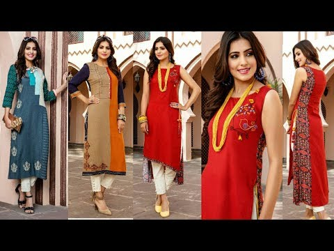 Latest Trendy/ fashionable/ fresh Summer Print Long Kurtis Collection 2018 || Trendy India 1