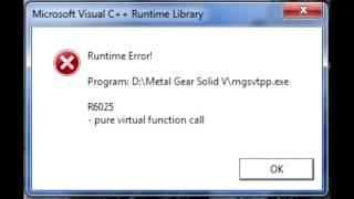 R6025 pure virtual function call - решение