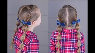 Dutch Braid and Bubble Pigtails | Q's Hairdos