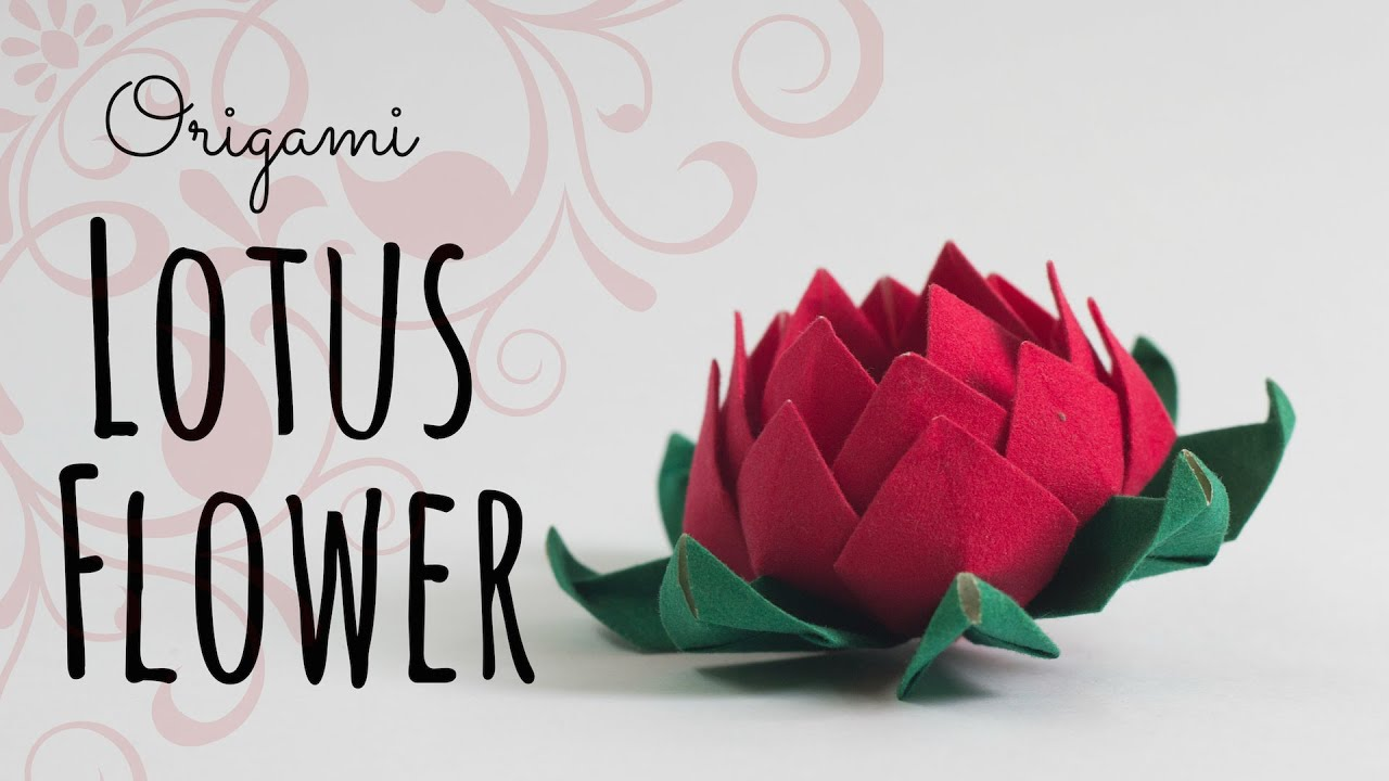 How To Make An Origami Lotus Flower Youtube