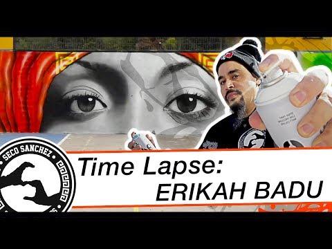 Time Lapse: Graffiti Erikah Badu   Seco Sanchez