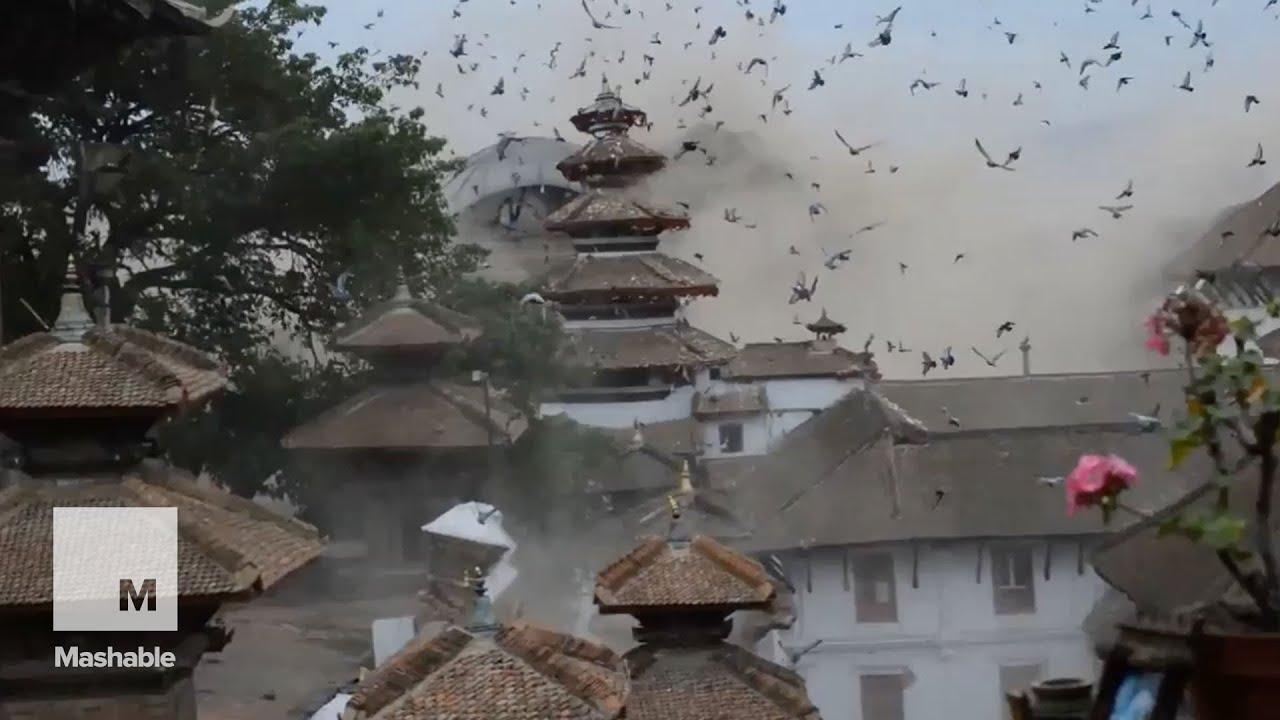 แผ่นดินไหว รุนแรง Footage shows the moment the devastating quake shatters Nepal | Mashable