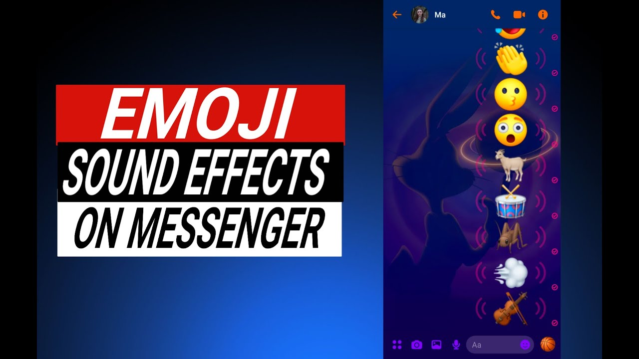 Emoji with Sounds on Messenger, How? (Step by Step Tutorial in 1 minute)