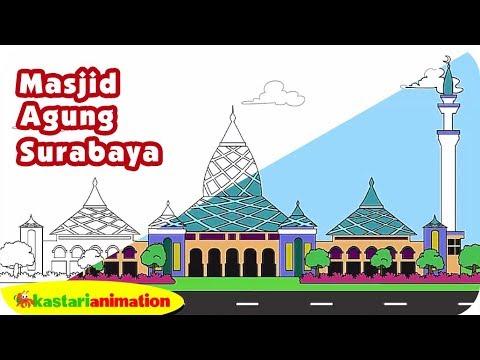 Mewarnai Masjid Agung Surabaya Bersama Diva Kastari Animation