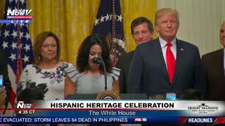 """MUST WATCH: Hispanic Woman Proposes An """"AMERICAN Heritage Month"""" - President Trump Agrees"""